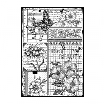 Crafty Individuals CI-452 - 'Nature's Beauty' Art Rubber Stamp, 96mm x 137mm
