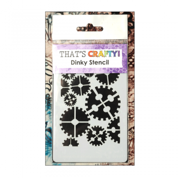 That's Crafty Must Haves - 'Dinky Stencil, Cogs', 75mm x 120mm