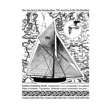Crafty Individuals CI-457 - 'Come Sail With Me' Art Rubber Stamp, 70mm x 93mm