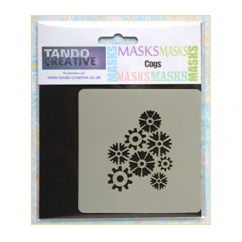 Tando Creative Must Haves - 'Mini Mask, Cogs' 100mm x 100mm