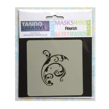 Tando Creative Must Haves - 'Mini Mask, Flourish' 100mm x 100mm