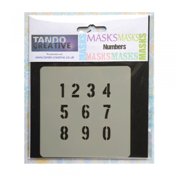 Tando Creative Must Haves - 'Mini Mask, Numbers' 100mm x 100mm
