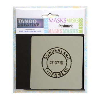 Tando Creative Must Haves - 'Mini Mask, Postmark' 100mm x 100mm