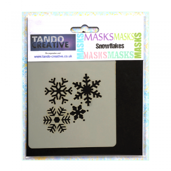 Tando Creative Must Haves - 'Mini Mask, Snowflakes' 100mm x 100mm