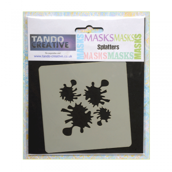 Tando Creative Must Haves - 'Mini Mask, Splatters' 100mm x 100mm
