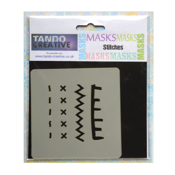 Tando Creative Must Haves - 'Mini Mask, Stitches' 100mm x 100mm