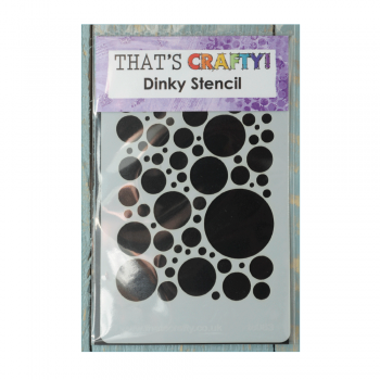 That's Crafty Must Haves - 'Dinky Stencil, Bubbly All Over' 75mm x 120mm