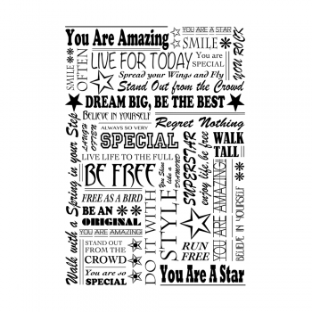 Crafty Individuals CI-468 - 'You Are A Star' Art Rubber Stamps, 96mm x 137mm