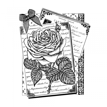 Crafty Individuals CI-470 - 'Rambling Rose' Art Rubber Stamp, 73mm x 90mm