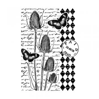 Crafty Individuals CI-472 - 'Tempting Teasels' Art Rubber Stamp, 68mm x 91mm