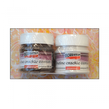 Pentart Must Haves - 'Pentart 2-Part Fineline Crackle Varnish', 2 x 50ml