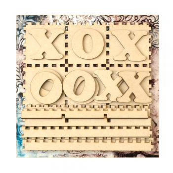 Must Haves - 'Tic Tac Toe MDF Set' 155mm x 155mm