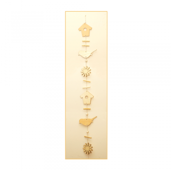 Must Haves - 'Decorative Wood Bird and Flower Hanging' 105mm width