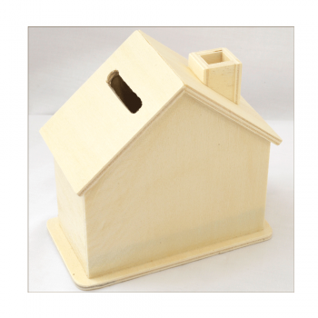 Must Haves - 'Wooden House Money Box' 105mm x 105mm