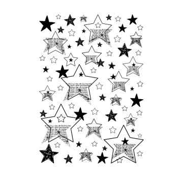 Crafty Individuals CI-479 - 'Seeing Stars Background' Art Rubber Stamp, 96mm x 137mm