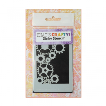 That's Crafty Must Haves - 'Dinky Stencil, Cogs2', 75mm x 120mm