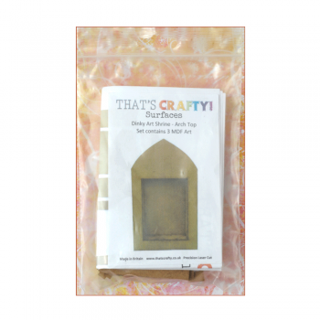 That's Crafty Must Haves - 'Dinky Art Shrine x 3 Pack, Arch Top' 39mm x 59mm x 10mm