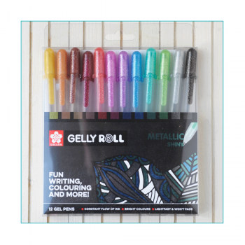 Must Haves - 'Twelve Sakura Shiny Metallic Gelly Roll Gel Pens'