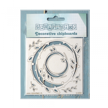 Scrapiniec Must Haves - 'Spring Prodigy, Decorative Laser Cut Chipboard Frames' up to 92mm x 92mm