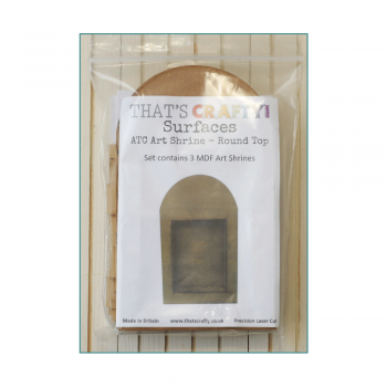 That's Crafty Must Haves - 'ATC Art Shrine x 3 Pack, Round Top' 100mm x 170mm x 35mm