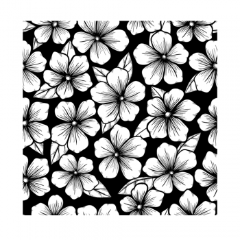 Crafty Individuals CI-490 - 'Blossoms Repeating Background' Art Rubber Stamp, 92mm x 92mm
