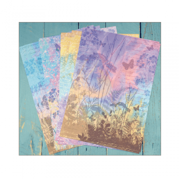 Crafty Individuals Eight A4 Background Paper Sheets - 'Aurora Borealis'
