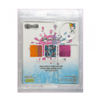 Ranger Must Haves - 'Dylusions x 3 Assorted Size Gel Printing Plates', 2 Rectangles, 1 Circle