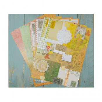 Crafty Individuals Eight A4 Background Paper Sheets - 'Tickets and Navigation'