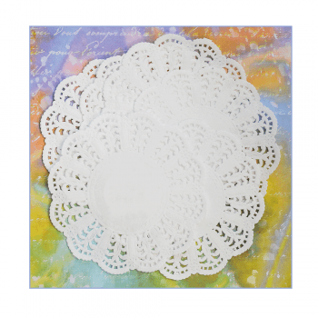 Must Haves - 'Small White Lacy Paper Doilies x 10' 88mm diameter