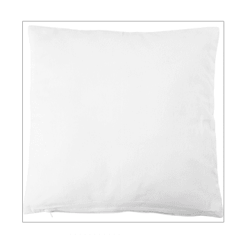 Must Haves - 'White Cotton Cushion Cover, with Zip' 400mm x 400mm