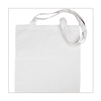 Must Haves - 'White Fabric Shopping Bag with Long Handles' 380mm x 420mm