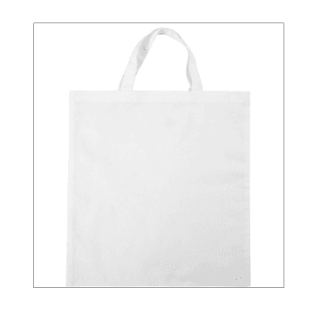 Must Haves - 'White Fabric Shopping Bag with Short Handles' 380mm x 420mm