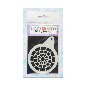 That's Crafty Must Haves - 'Round Dinky Stencil, Brickwork', 75mm x 95mm