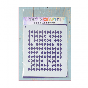 That's Crafty Must Haves - 'Stencil, Distressed Harlequin', 6.5in x 7.5in