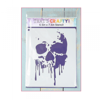 Must Haves - 'Stencil, Drippy Skull', 6.5in x 7.5in