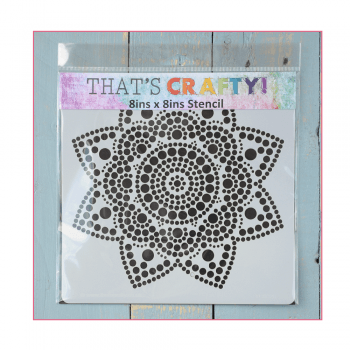That's Crafty Must Haves - 'Stencil, Dot Mandala', 8in x 8in