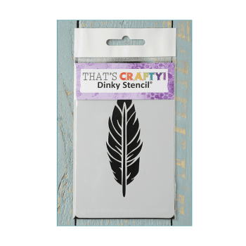 Must Haves - 'Dinky Stencil, Feather' 75mm x 120mm