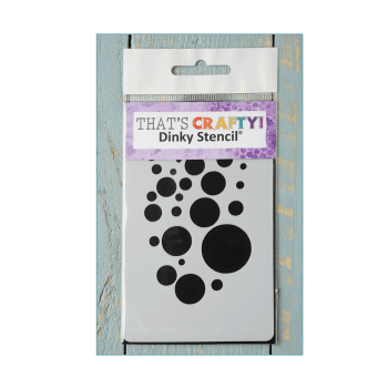 That's Crafty Must Haves - 'Dinky Stencil, Bubbles' 75mm x 120mm