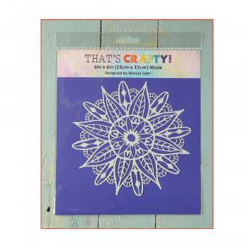 That's Crafty Must Haves - 'Mask, Mandala 2', 6in x 6in