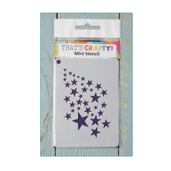 That's Crafty Must Haves - 'Mini Stencil, Stars', 75mm x 105mm
