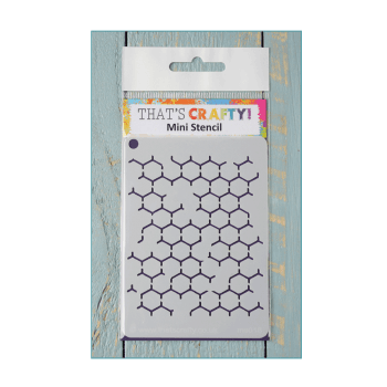 That's Crafty Must Haves - 'Mini Stencil, Reverse Honeycomb', 75mm x 105mm