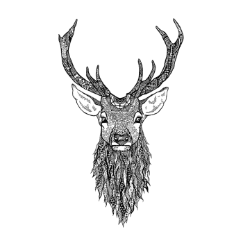 Crafty Individuals CI-526 - 'Highland Stag' Art Rubber Stamp, 82mm x 137mm