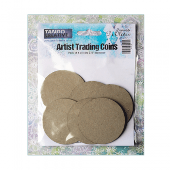 "Tando Creative Must Haves - 'Artist Trading Coins x 6, by Tando Creative', 2.5"" dia"