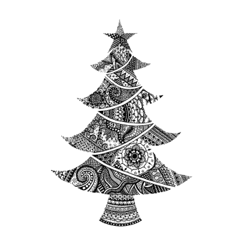 Crafty Individuals CI-530 - 'O Christmas Tree' Art Rubber Stamp, 96mm x 140mm