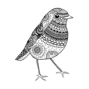 Crafty Individuals CI-531 - 'Robin Redbreast' Art Rubber Stamp, 80mm x 100mm
