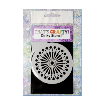 That's Crafty Must Haves - 'Round Dinky Stencil, Decorative Petals', 75mm x 95mm