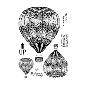 Crafty Individuals CI-535 - 'Fly With Me' Art Rubber Stamps, 96mm x 137mm