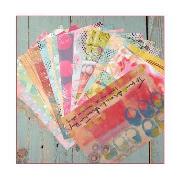 Crafty Individuals Twenty-four A5 Satin Finish Background Paper Sheets - 'Mismesh'