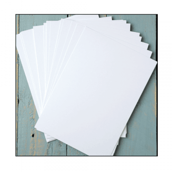 White Satin Stamping Card - 24 A5 Sheets, 150mm x 210mm
