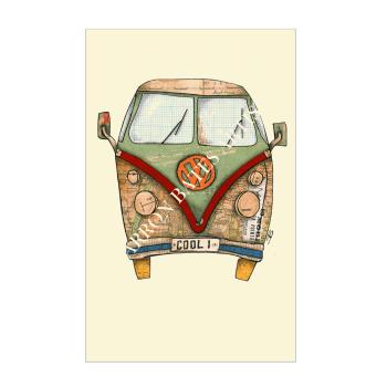 Camper Van, COOL 1, A4 Size Print by Sharron Bates